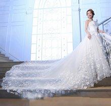 2020 роскошные белые платья с цветочным узором для свадьбы милое