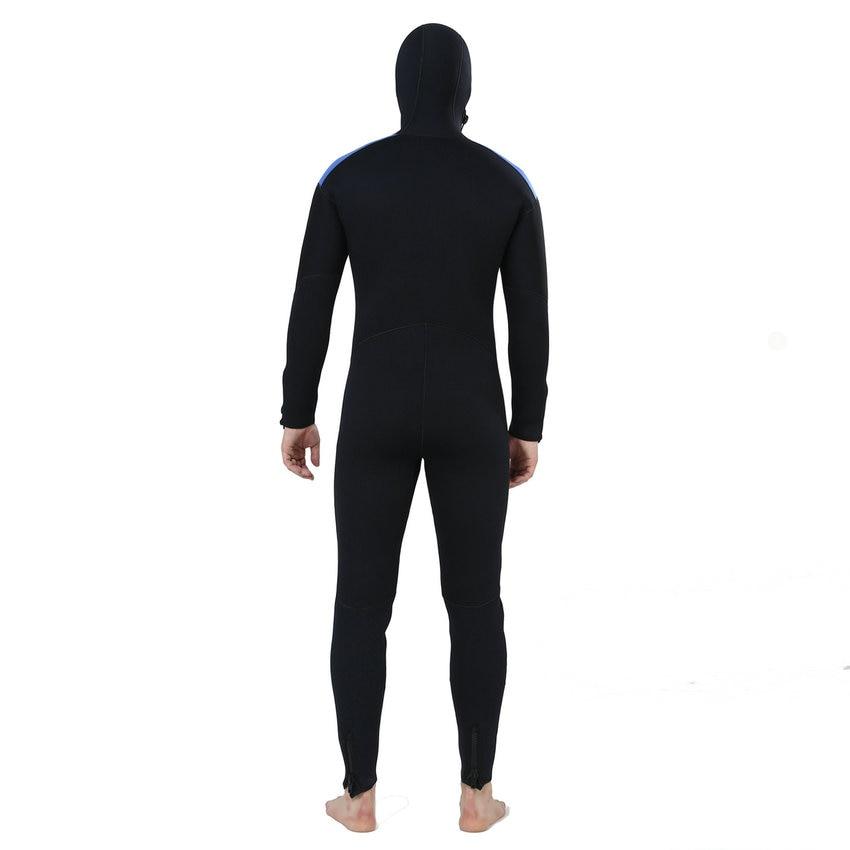 0fd50870ccea1 Realon pesca submarina 5mm de neopreno traje de los hombres con sudaderas  con capucha traje de submarinismo para el surf buceo
