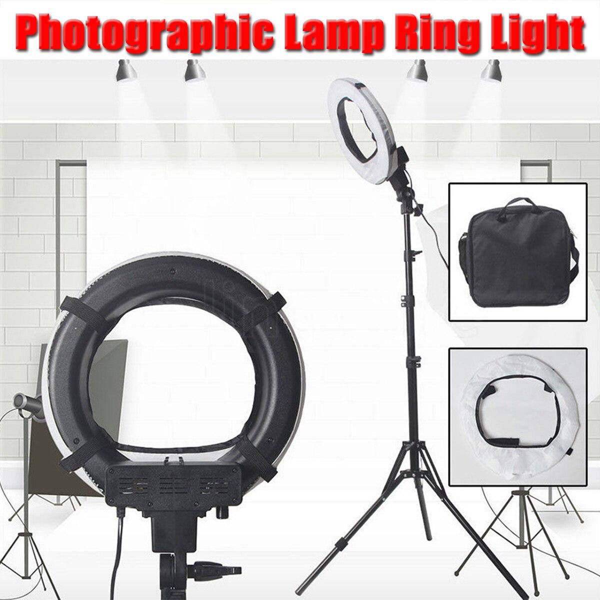 Dimmable LED Studio Camera Phone Studio Selfie Ring Light 5500K Video Ring Lamp Annular Lamp Ring Fill Lights With 190CM Tripod кольцо для селфи selfie ring light на батарейке белое