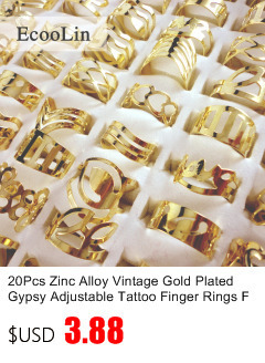6781a0ebd 50Pcs Zinc Alloy Vintage Gold Gypsy Adjustable Tattoo Finger Rings ...