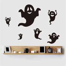 2015 hot newest funny 6 pieces black Ghost home decor wall stickers party kids room creative DIY decoration sticker