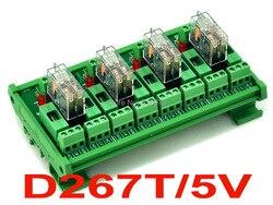 الدين السكك الحديدية جبل تنصهر 4 DPDT 5A الطاقة تتابع واجهة وحدة ، G2R-2 5 فولت DC التتابع.