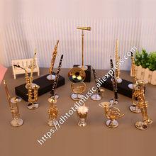 Dh miniatura clarinete flauta trompete, trompete trompete peruca modelo de mini instrumento musical presente e decoração