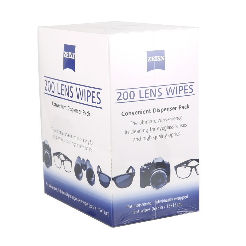 200 pcs Glass Wipes Optical Spectacle Lens Camera Easy Clean Monitor Smear Free Individually Wrapped camera lens cleaning cloth