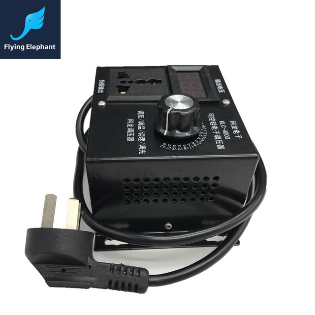 AC220V Digital 4000W Power Suppy SCR Electric Voltage Regulator ...