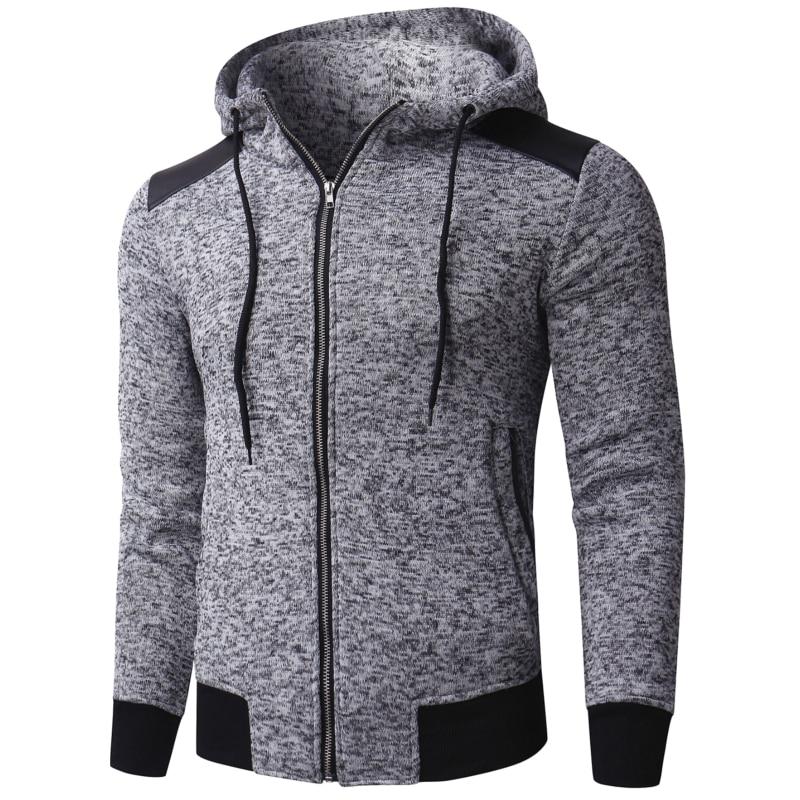 INCERUN männer Hoodies Sweatshirts Winter Männer Jacke Mit Kapuze Zip Up Gestrickte Casual Sweats Hoody Sweatshirt Mode Outwear Hombre