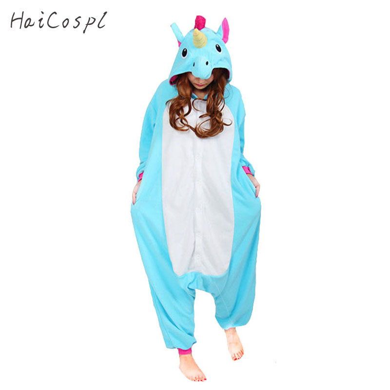 Kigurumi Unicorn Anime Cosplay Unisex Unicorns Onesie Animal Pajamas Costumes Soft Warm Kigurumi Carnival Party Sleepwear