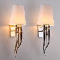 Современный настенный светильник рога светодио дный настенный светильник Спальня прикроватные бра E27 светильник бра светильники домашнег
