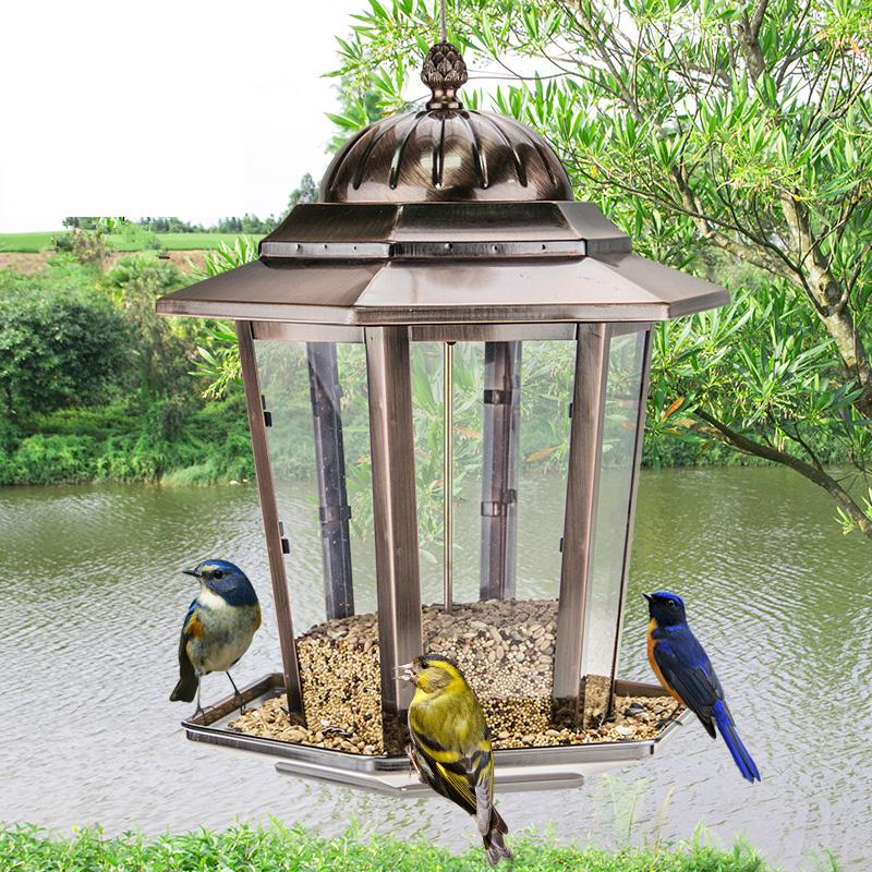 European style wild bird feeder Outdoor bird feeders food containerEuropean style wild bird feeder Outdoor bird feeders food container
