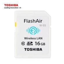 Buy TOSHIBA WiFi SD Card  16GB 32GB FlashAir High Speed SDHC Class 10 UHS-I sd wifi Memory Card Flash Card For Digital Camera