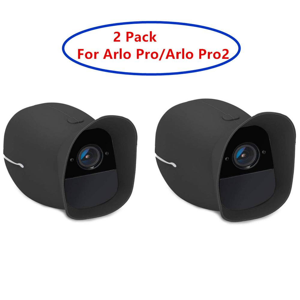 2 Pack Cover Skins For Arlo Pro And Arlo Pro 2 Wireless Smart Security Camera,Water And UV Resistant,Perfect Fitting(Black_