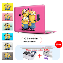 Minions Take Photo Insert Purple Matte Hard Notebook Case For Apple Macbook Air 11 Case Pro13 15 For Macbook Case Mac Air Case