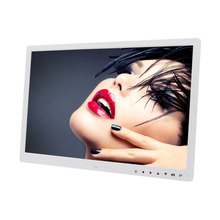 HD Digital Photo Frame Electronic Album 17 Inches Front Touch Buttons Multi-language LED Screen Pictures Music Video