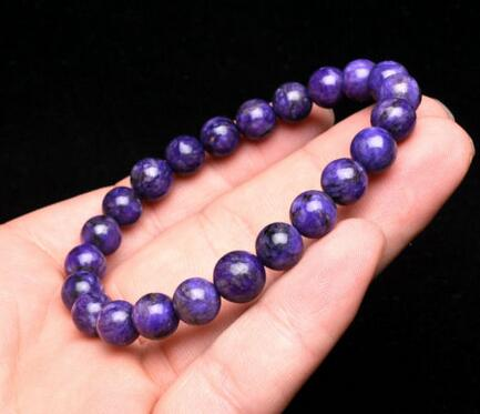 free shipping 8mm Top Quality Natural Purple Charoite Crystal stone Round Beads Bracelet цена и фото