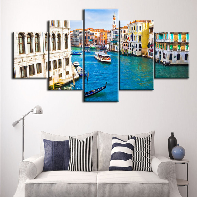 Delightful Venice Grand Canal Picture Spray Painting Wall Art For Living Room Home  Decor HD Print Oil