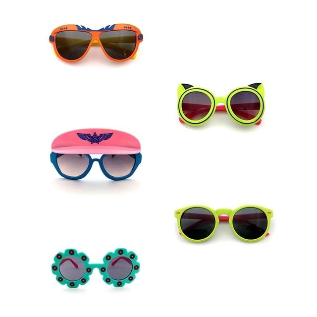 1 pc Outdoor Sun Glasses 2018 Cartoon Fox Sunglasses Children Travel Candy Color Goggles Oculos De Sol 1