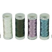 SIMTHREAD 6 основных цветов металлическое плетение нить, 50 метров/бобина-для ручного плетения