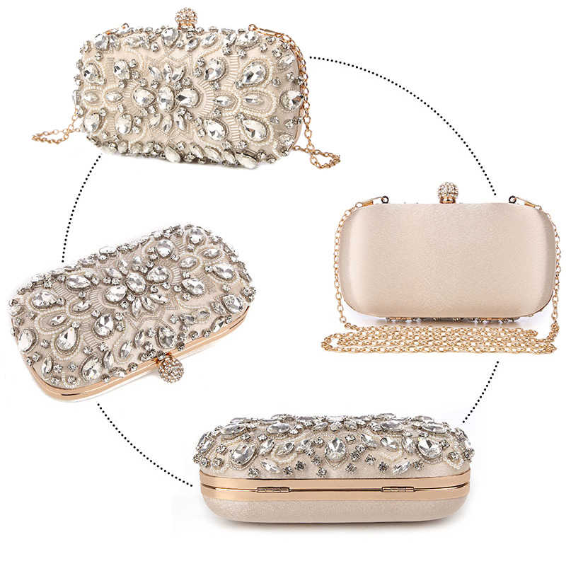 4b25f82633 ... Luxy Moon Evening Bags Diamond Rhinestone Pearls Beaded Wedding Clutch  Women s Purse Handbags Wallets Evening Clutch ...
