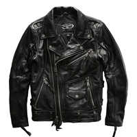 european big size high quality super genuine cow skin leather motor rider jacket mens big size casual cowhide leather jacket