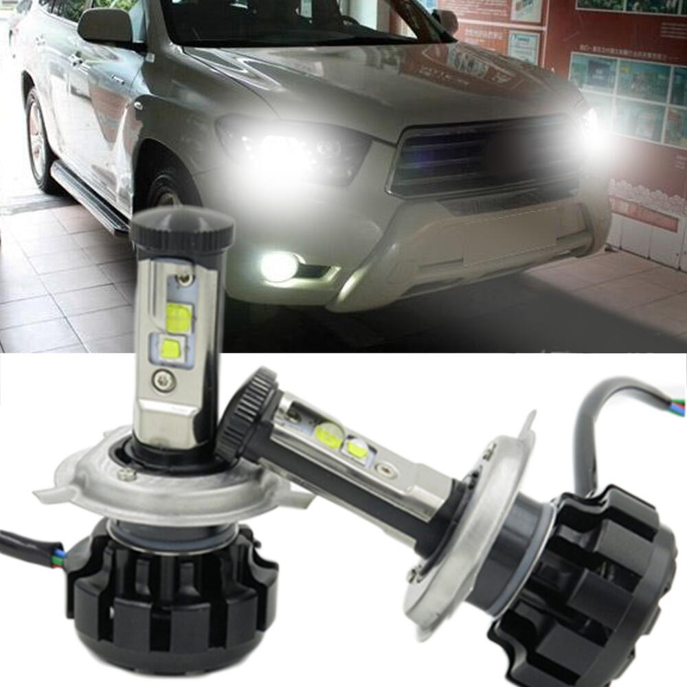 Car LED 10000LM Super Bright Headlight Kit H4 9004 H13 9007 Chips Replace Bulb DRL Leds Lamp 6000K Car-Styling Auto Accessories h4 car led headlight kit diamond h4 h13 9004 9007 hi lo beam headlight auto front bulbs 6000k 12v car lighting replacement bulbs