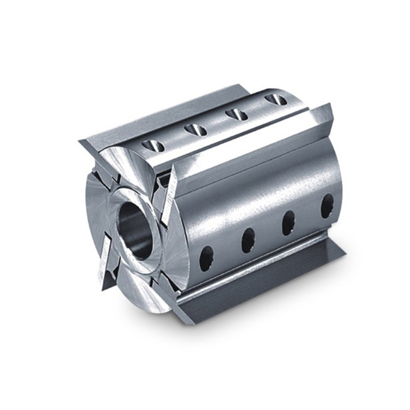 LIVTER Back corrugated Spiral Cutter head Spairl Planing Cutter Head Helical Cutter for Spindle Machine 4 side 4T Milling Cutter    - title=