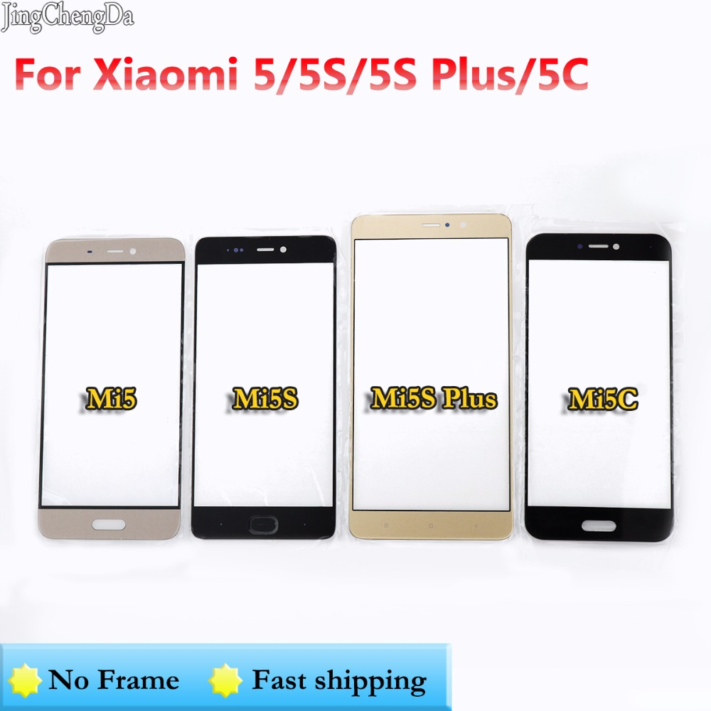 JCD 1pcs Outer LCD Front Screen Glass Lens Cover Replacement Parts For Xiaomi Mi5 5s 5s Plus 5c Touch Screen