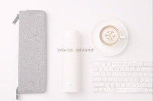 Image 5 - Original Xiaomi Portable en acier inoxydable 500ml bouteille deau thermique Design mince meilleure qualité 24 heures isolation thermique/froide