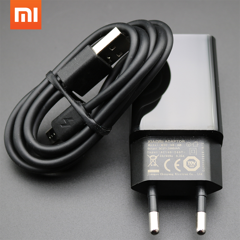 Image 1 - Original Xiaomi Charger for xiaomi 4 3 2 NOTE4 X MAX redmi pro 1S 2S 3 3S 3X NOTE 3 4 4A 4X 5,EU 5V 2A Adapter + Micro USB Cable-in Mobile Phone Chargers from Cellphones & Telecommunications