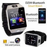 Bluetooth smart watch Smartwatch DZ09 telefonu z systemem Android otrzymać telefon zwrotny od Relogio 2G GSM karty SIM TF kamera dla iPhone Samsung HUAWEI PK GT08 A1
