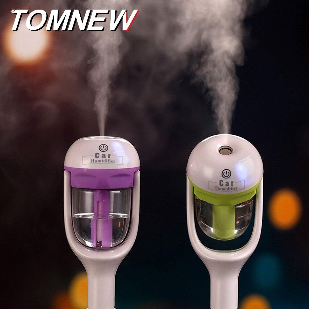 TOMNEW 50 ml Auto Diffusore Umidificatore Portatile Mini Aromaterapia Bevanda Rinfrescante di Aria Purificatore Aroma Olio Essenziale Diffusore per Auto