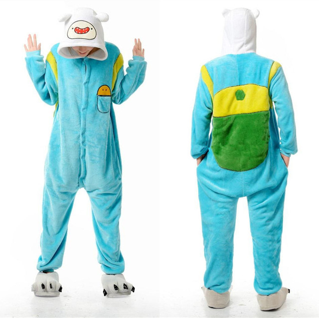 Adventure Time With Finn And Jake Adults Jumpsuit Costumes Women Menu0027s Pajamas Halloween Party Cosplay camouflage  sc 1 st  AliExpress.com & Adventure Time With Finn And Jake Adults Jumpsuit Costumes Women ...