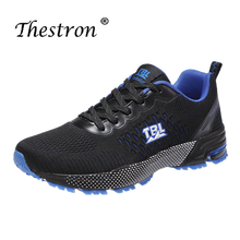 2019 Mens Running Shoes Lightweight Jogging Sneakers Black  Blue Breathable Men Athletic Trainers Comfortable Authentic
