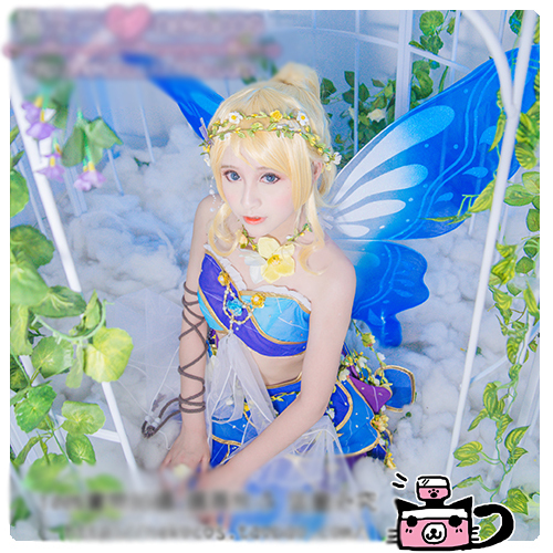 Love Live! All Members Awaken Spirit Flower Fairy Minami Kotori Yazawa Nico Cosplay Costume Halloween Dress+Wings+Ears