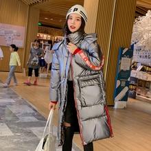 ビッグポケット女性パーカー生き抜く暖かい厚みコート新到着 2 スタイリッシュな冬のジャケット女性ロングフード付き 2019