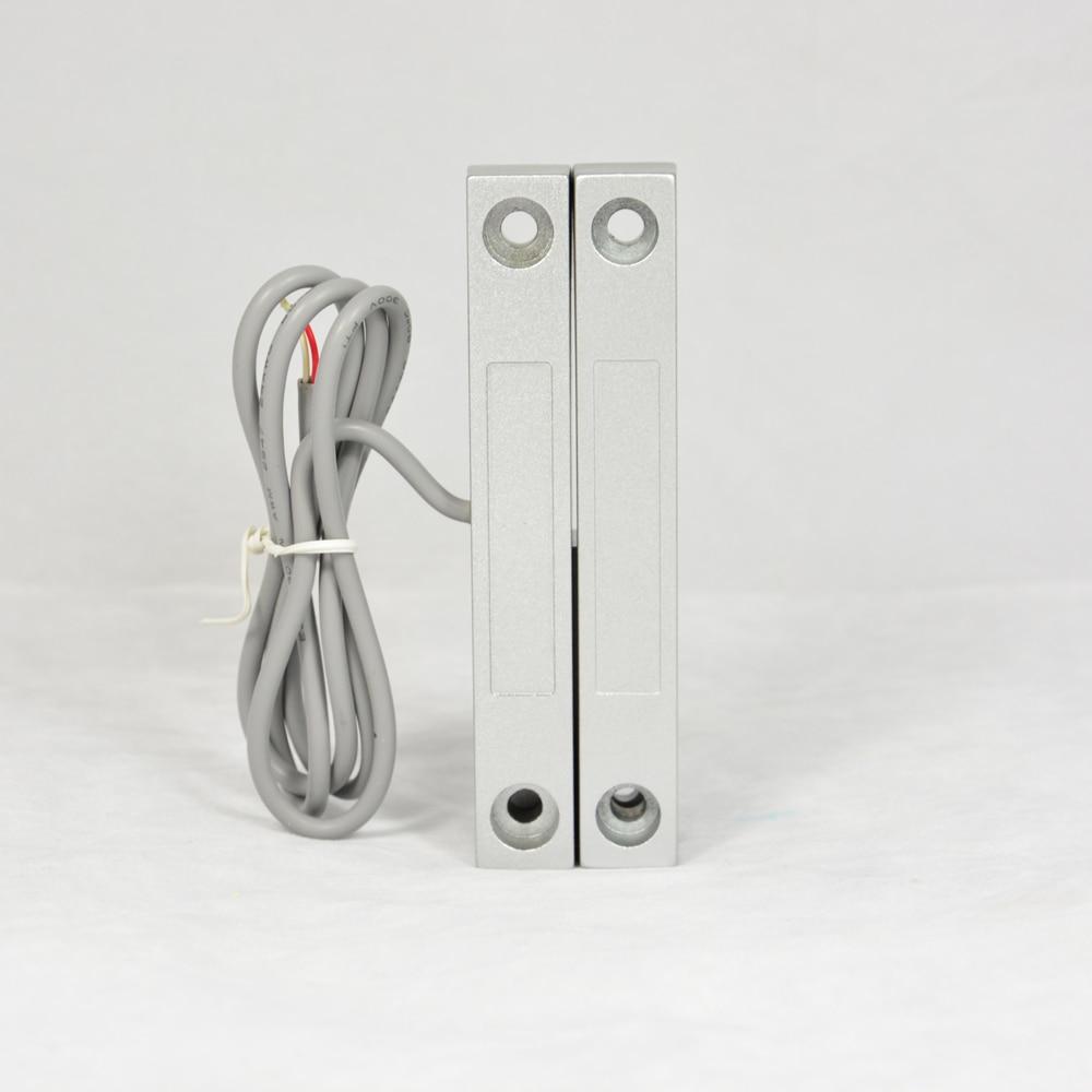 (1 PCS) Metal Wired Door Magnetic Sensor Window Open Alarm Switch NC Relay Output Home Security Alarm Self-defense Anti Burglar
