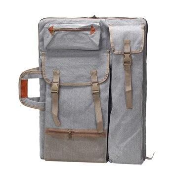 Art Portfolio Bag Case Backpack Drawing Board Shoulder Bag with Zipper Shoulder Straps for Artist Painter Students Artwork shoulder bag