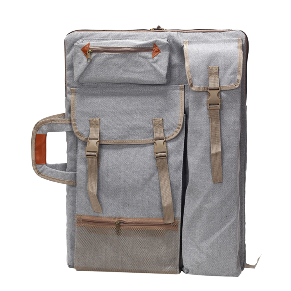 Art Portfolio Bag Case Backpack Drawing Board Shoulder Bag with Zipper Shoulder Straps for Artist Painter