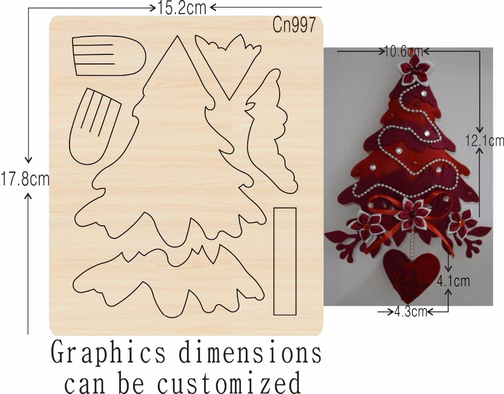 christmas tree new wooden die  cutting dies for scrapbooking Thickness 15.8mm-in Cutting Dies from Home & Garden    1
