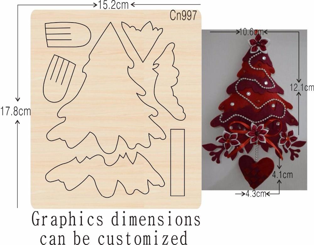 크리스마스 트리 scrapbooking Thickness 15.8mm 대한 새로운 나무 다이 커팅 다이-에서절단 다이스부터 홈 & 가든 의  그룹 1