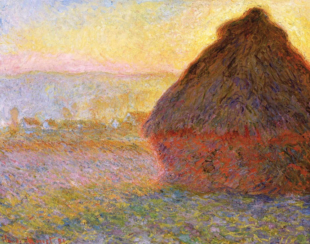 100% handmade landscape oil painting reproduction on linen canvas,grainstack-at-sunset by claude monet,Free DHL Shipping100% handmade landscape oil painting reproduction on linen canvas,grainstack-at-sunset by claude monet,Free DHL Shipping