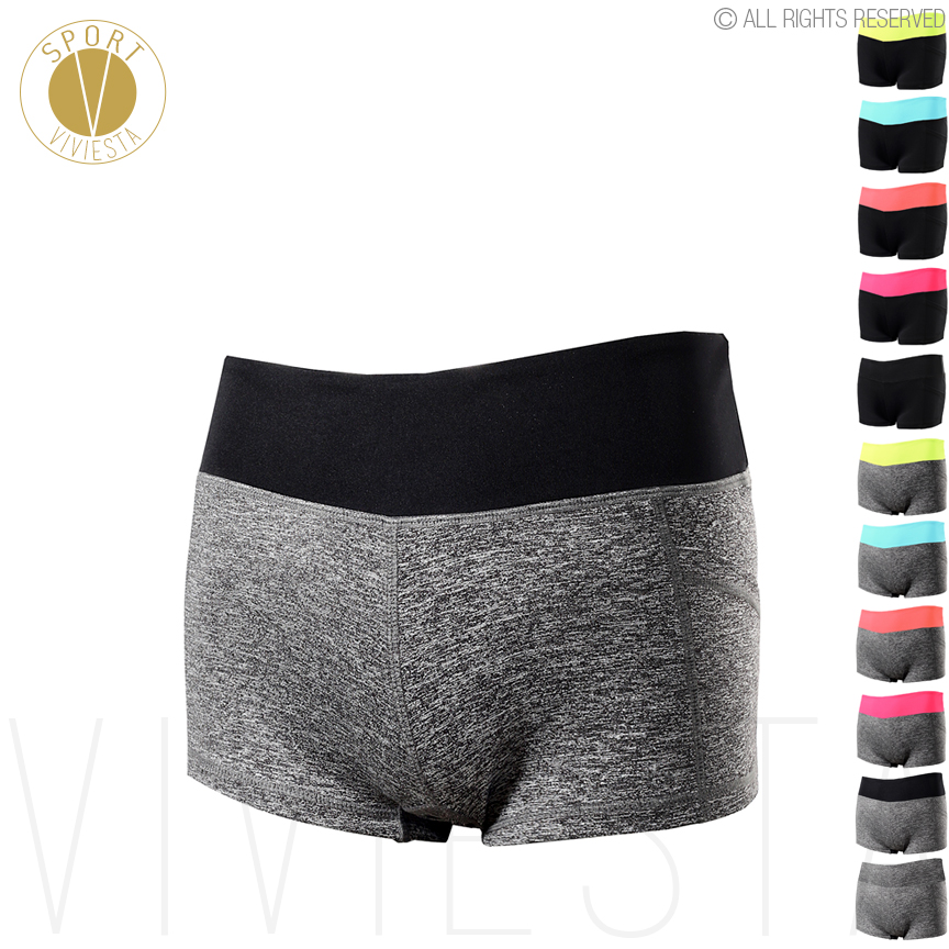 Low Rise Yoga Sports Shorts - Women's Gym Training Comfort Active Leisure Sporty Elastic Waist Compression Tight Fit Shorts