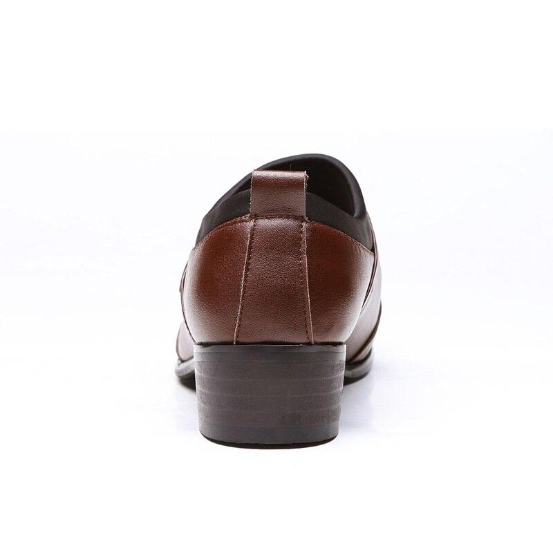 Mewah Pria Bisnis Inggris Berpakaian Sepatu Spring Autumn Titik Toe - Sepatu Pria - Foto 6