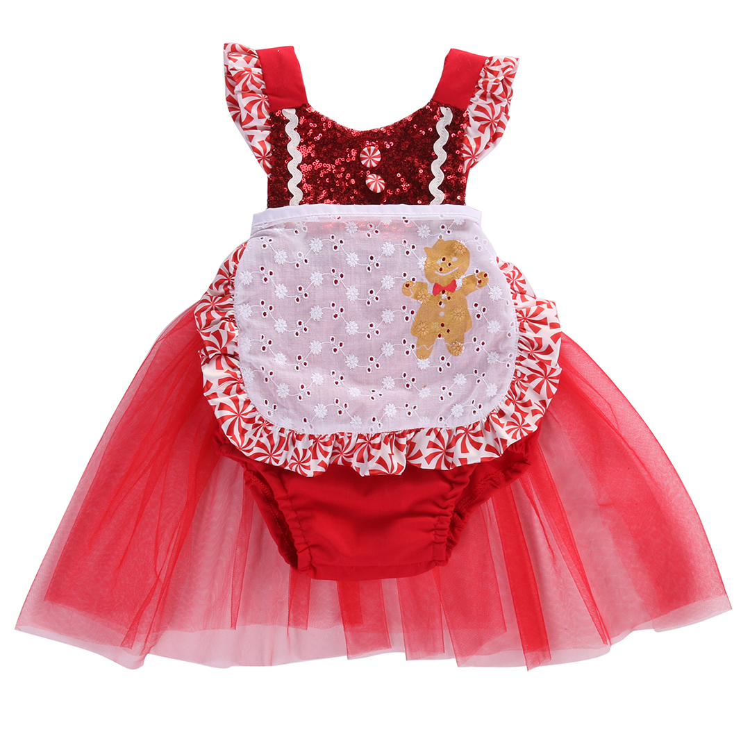Tulle dress romper baby s first christmas costumes birthday party