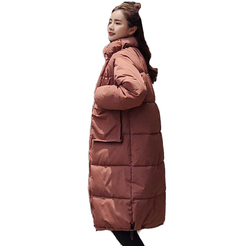 Women   Parkas   2019 New Arrival Solid Slim Long Coat For Women's Cotton Slim   Parka   With Hooded Winter Jacket