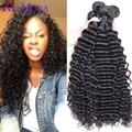 7A Raw Virgin Malaysian Curly Hair 3Pcs Free Shipping Malaysian Virgin Hair Deep Wave Vip Beauty Hair Malaysian Kinky Curly Hair