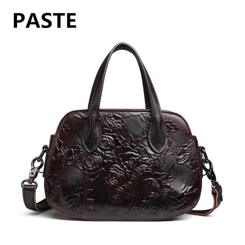 PASTE  New oil wax Leather Handbag Leather Handbag Handbag Female Shoulder Messenger Bag Retro Style Embossed Handbag sharpener polishing wax paste metals chromium oxide green abrasive paste chromium oxide green polishing paste