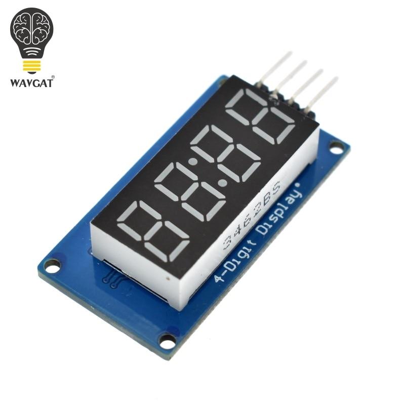 Модуль светодиодного дисплея TM1637 для Arduino, 7 сегментов, 4 бита, 1,5-дюймовые часы, красная анодная цифровая трубка, комплект с четырьмя серийным...