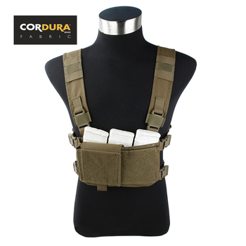 TMC Cordura Tactical Military Airsoft Modular Compact Micro Chest Rig Combat Gear Coyote Brown CB (SKU051202)