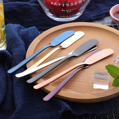 Stainless Steel Tableware Small Spreader Set 5 colors