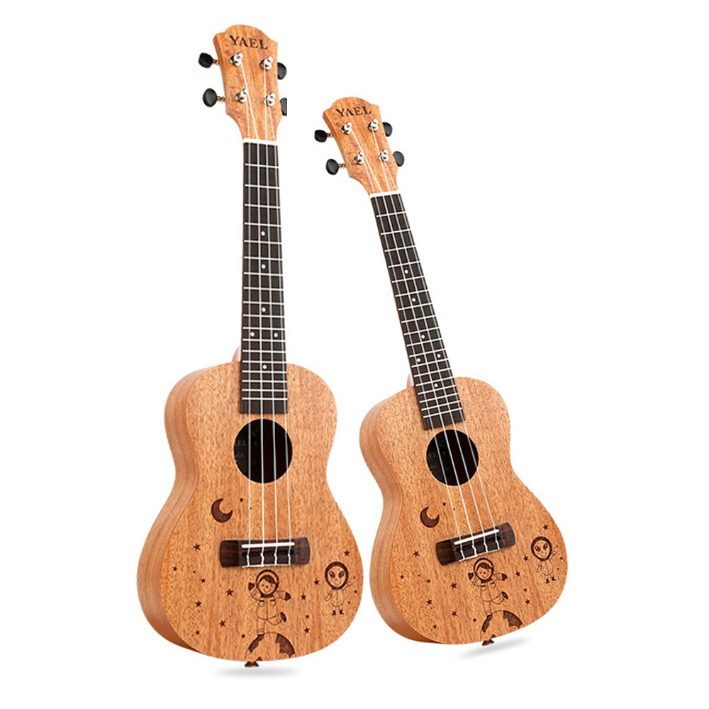 23 inch /21 inch Ukulele Concert 4 Strings Musical Instruments 18 Frets Mahogany Star Choose